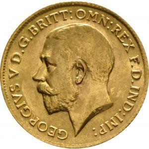 1911 Gold Half Sovereign - King George V - London