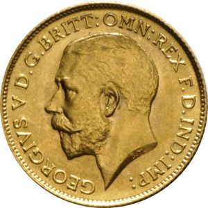 1925 Gold Half Sovereign - King George V