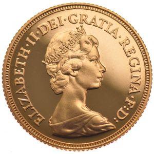 1982 Gold Half Sovereign - Elizabeth II Decimal Head
