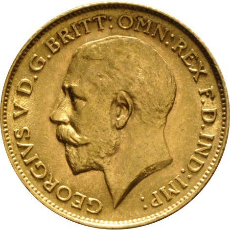 1912 Gold Half Sovereign - King George V - London