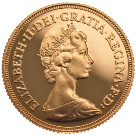 1982 Gold Half Sovereign - Elizabeth II Decimal Head