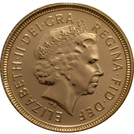 2001 Gold Half Sovereign - Elizabeth II Fourth Head