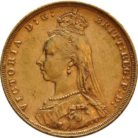 1888 Gold Sovereign - Victoria Jubilee Head