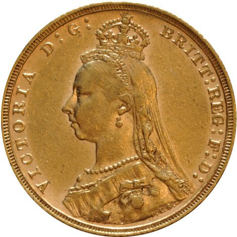 1893 Gold Sovereign - Victoria Jubilee Head