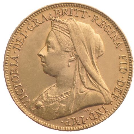 1893 Gold Sovereign - Victoria Old Head