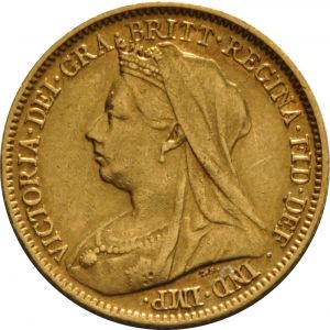 1901 Gold Half Sovereign - Victoria Old Head