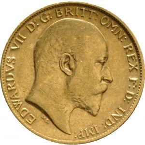 1905 Gold Half Sovereign - King Edward VII - London