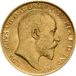 1907 Gold Half Sovereign - King Edward VII - London