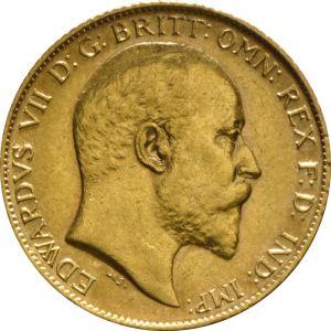 1909 Gold Half Sovereign - King Edward VII - London