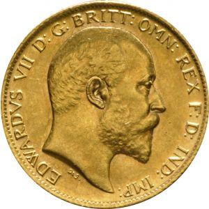 1910 Gold Half Sovereign - King Edward VII - London