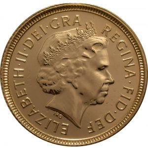 2000 Gold Half Sovereign - Elizabeth II Fourth Head