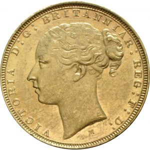 1873 Gold Sovereign - Victoria Young Head