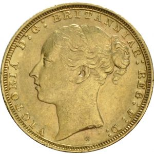 1881 Gold Sovereign - Victoria Young Head