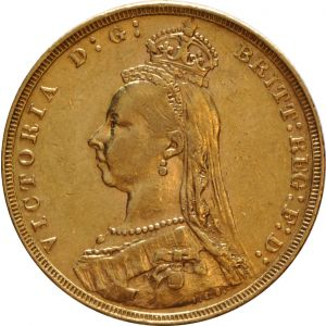 1891 Gold Sovereign - Victoria Jubilee Head