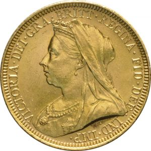 1895 Gold Sovereign - Victoria Old Head