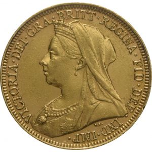 1901 Gold Sovereign - Victoria Old Head