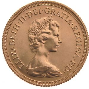 1978 Gold Sovereign - Elizabeth II Decimal head