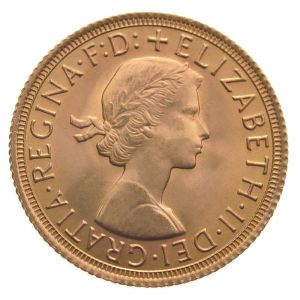 1959 Gold Sovereign - Elizabeth II Young Head