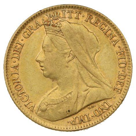 1895 Gold Half Sovereign - Victoria Old Head