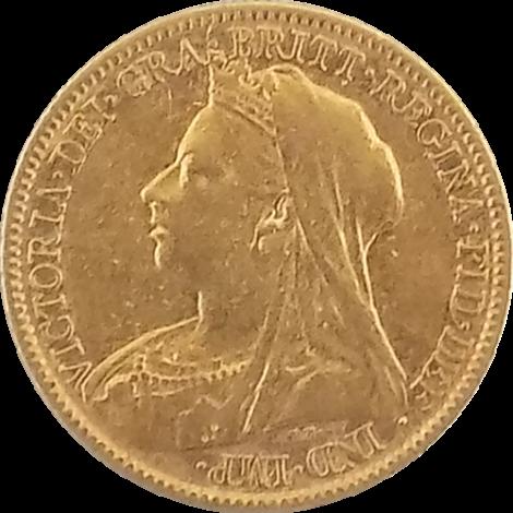 1900 Gold Half Sovereign - Victoria Old Head
