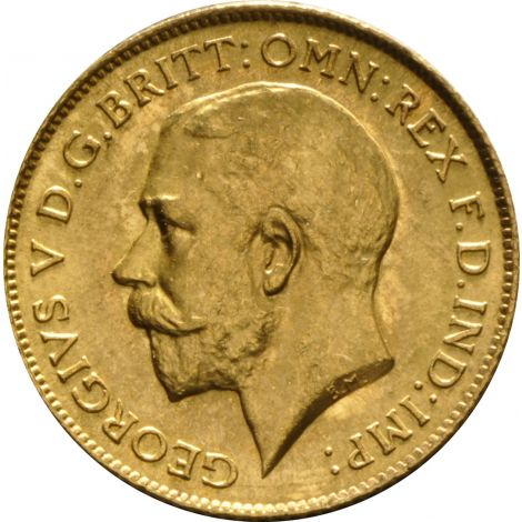1915 Gold Half Sovereign - King George V - London