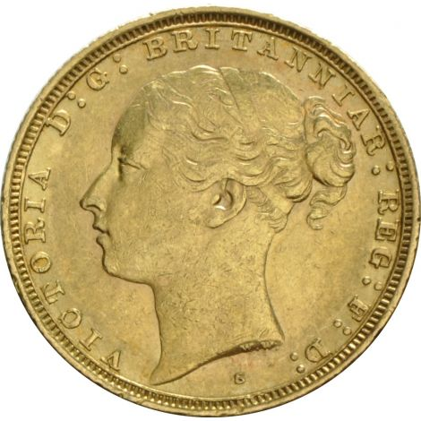 1874 Gold Sovereign - Victoria Young Head