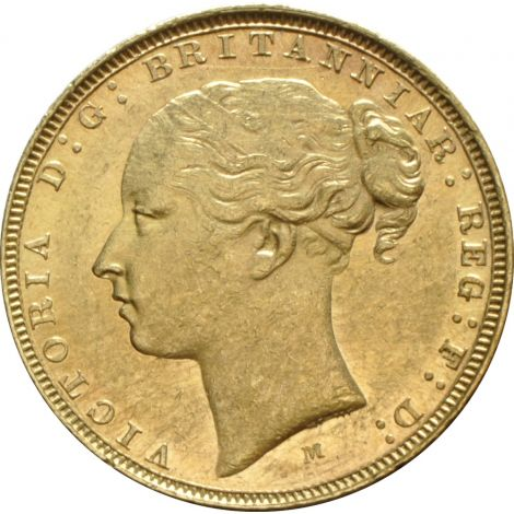 1885 Gold Sovereign - Victoria Young Head