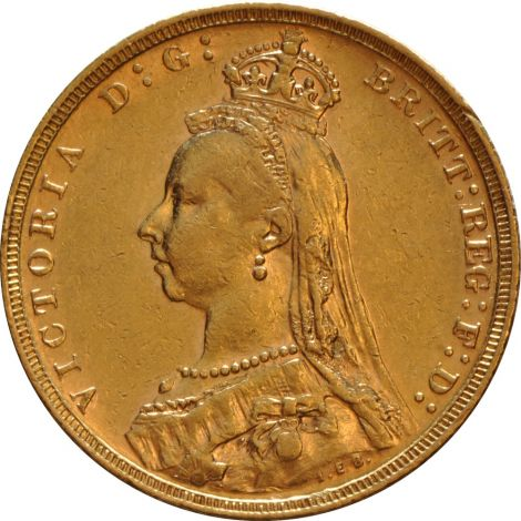 1889 Gold Sovereign - Victoria Jubilee Head