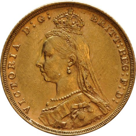 1890 Gold Sovereign - Victoria Jubilee Head