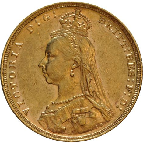 1892 Gold Sovereign - Victoria Jubilee Head