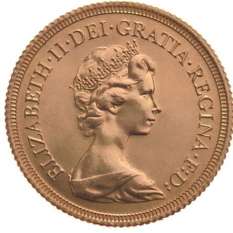 1980 Gold Sovereign - Elizabeth II Decimal head