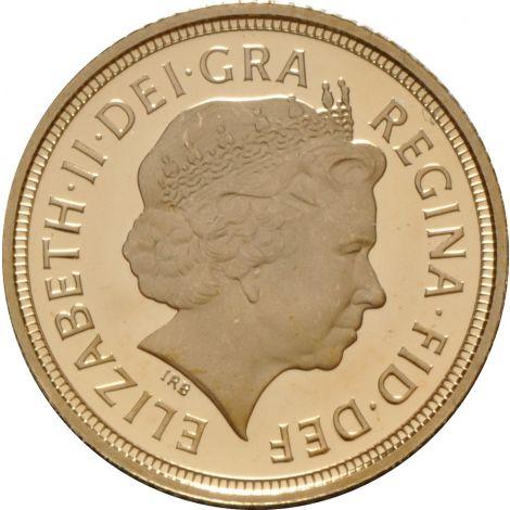 2005 Gold Half Sovereign - Elizabeth II Fourth Head